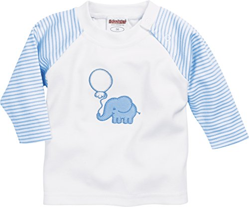 Schnizler Baby-Unisex Sweat-Shirt Interlock Elefant Sweatshirt, Blau (Bleu 17), 62