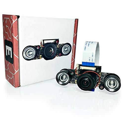Electreeks® | NEU | Raspberry Pi Kamera Modul mit Automatik Infrarot-Sperrfilter - Full HD mit Infrarot LEDs (175° Super Weitwinkel-Objektiv)