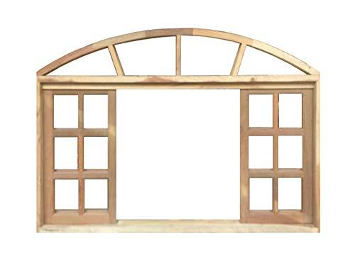 Janela de Madeira Vitro de Correr Quadriculado em Arco de Itaúba Esquadrias Longo - 2.20 (L) X 1.20 (A)