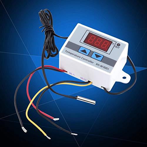 Termostato digital, interruptor de termostato rápido, con sonda simple para sistema de aire acondicionado, control de temperatura, caja de equipo de protección de 0,1 ℃ precisión