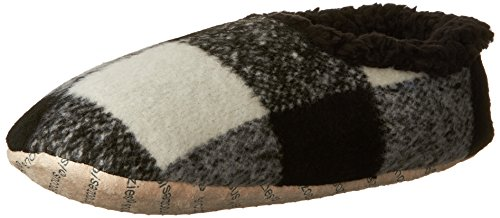 Snoozies Mens Modern Plaid Slippers - Comfortable Slippers for Men - Brown/Tan - E-Large