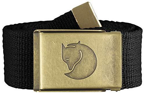FJÄLLRÄVEN Unisex Gürtel Canvas Brass Belt, Black, Einheitsgröße