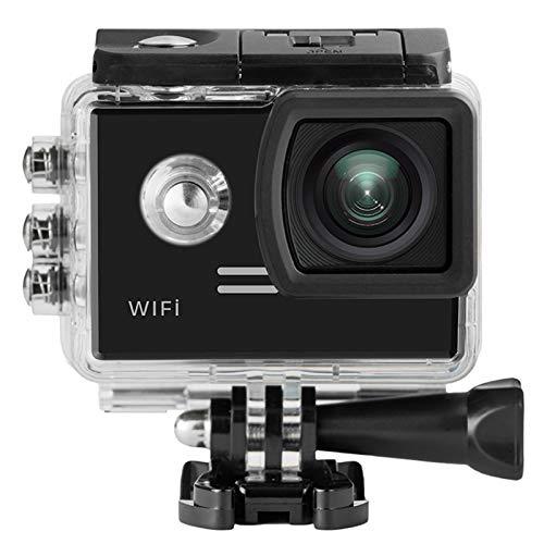 SJ5000X Gyro Deporte acción de la cámara 4K WiFi H.264 Buceo 30M Impermeable de los Deportes de DV SJ5000x F11.12C (Bundle : Standard, Color : Black)