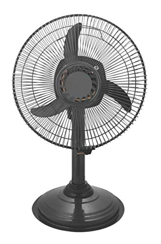 Starvin ISI Approved Copper Motor Mini Pedestal Fan, Sweep- 300 MM, 12 Inches, Metal Body Gray Cyclone G-36