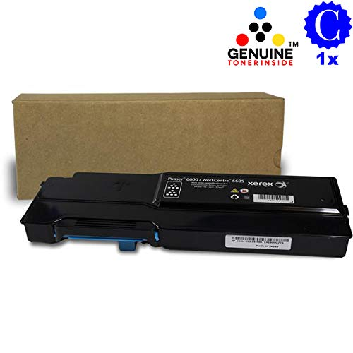 Professor Color Recoded Toner Cartridge Replacement for Xerox Phaser 6600 and Xerox WorkCentre 6605 High Capacity Cyan 106R02225