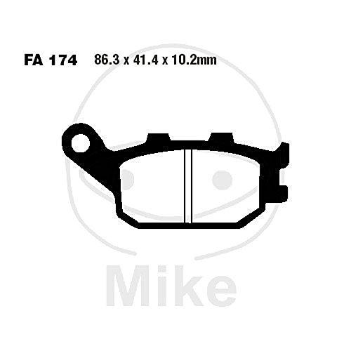 Motorcycle Brake Pads Pastiglie Freno Moto // Semi sintered rear brake pads Burgman 400 650 EBC BRAKES Pastiglie posteriori semi sinterizzate Burgman 400 650