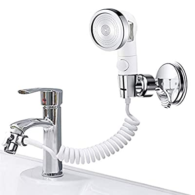 ZCONIEY Handheld Shower Kit for Sink & Bathtub Faucet Rinser Washing Hair Pet Sprayer Attachment for Utility Room Bathroom Laundry Tub