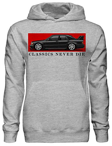 Legendary German Series Mercedes Benz amg Series Fan Artwork Unisex Pullover Hoodie with Pockets - Ring Spun Cotton Hooded Sweatshirt - Soft and Warm Inside - DTG Printed