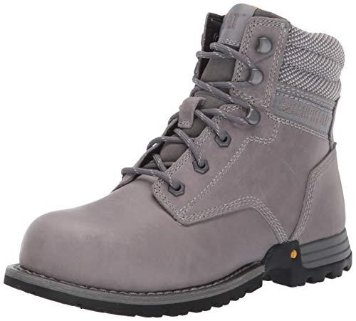 "Caterpillar Women's Paisley 6"" Steel Toe Industrial Boot, Dolphin, 10 M US"