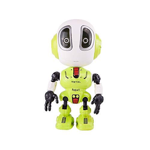 Sipobuy lustige Aufnahme sprechen Mini-Roboter-Spielzeug, interaktiv mit Wiederholungen Ihrer Stimme, Bunte Blinklichter, Head Sensing, 3-12 Jahre Kinder Kleinkinder, grün