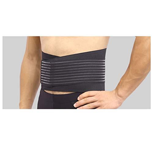 Men's Waist Trimmer Belt - Lightweight Elastic Adjustable Sports Belt Breathable Lumbar Lower Back Trainer Support Brace Belt Body Shaper Weight Loss Exercise Belly Belt (L) Photo #4