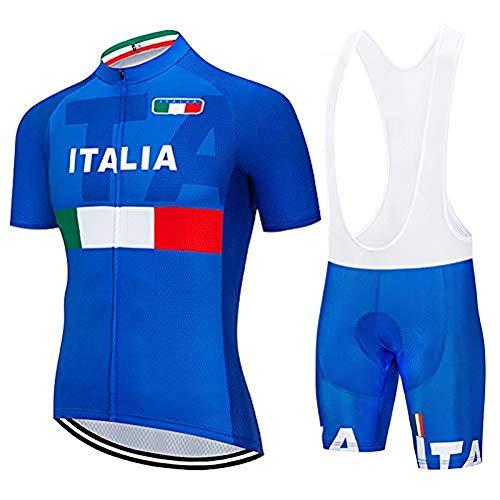 SUHINFE Abbigliamento Ciclismo Uomo, Completo Maglia Ciclismo con Pantaloni Corti da Ciclismo Asciugatura Asciugatura Rapida per MTB Ciclista