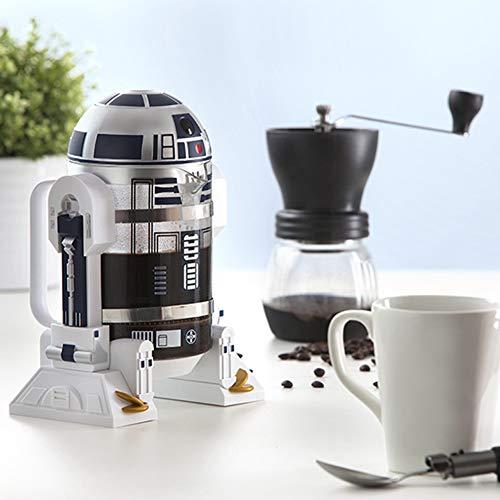 Cafetera manual R2-D2, cafetera manual, cafetera tetera a presión Mocha para uso doméstico y de oficina u otros