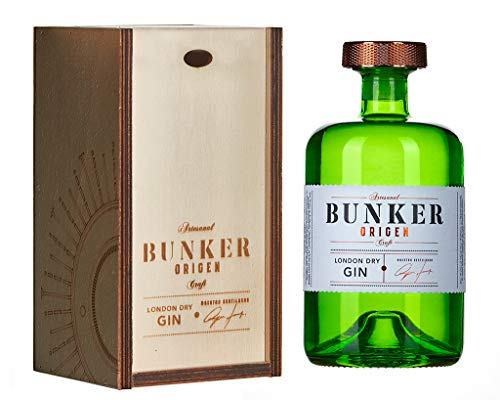 Ginebra Premium Artesanal BUNKER ORIGEN de 70 cl. Mejor Ginebra London Dry de España 2021.