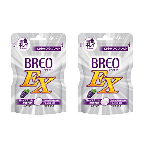 グリコ ブレオEX 66g × 2袋 グレープミント