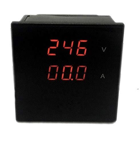 DENKO AC Digital dual display voltmeter ammeter 0-500 V AC 0-60 A through CT Digital Panel meter 72X72