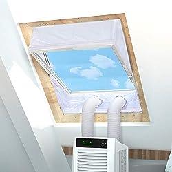 Kit Condizionatore Finestra Installazione di Condizionatori Portatili per Finestre a Bilico per Tutti i Climatizzatori Mobili per Finestre con Perimetro Fino a 390 cm