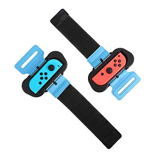 MoKo [2 PZS Correa de Muñeca Compatible con Joy-con Nintendo Switch Just Dance 2021/2020 y Zumba, Banda de Muñeca Elástica Cómoda de 2 Tamaños Diferentes Ajustable para Adultos y Niños