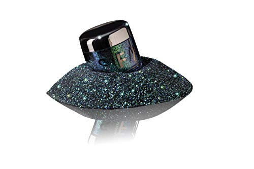 Miss Fame Loose Glitter for Lips, Face & Body - Iridescent Blue w/ Emerald Green Base - Dramatic Holographic Makeup   Perfect for Women, Men, Makeup Artists & Drag Enthusiasts (Force of Nature)