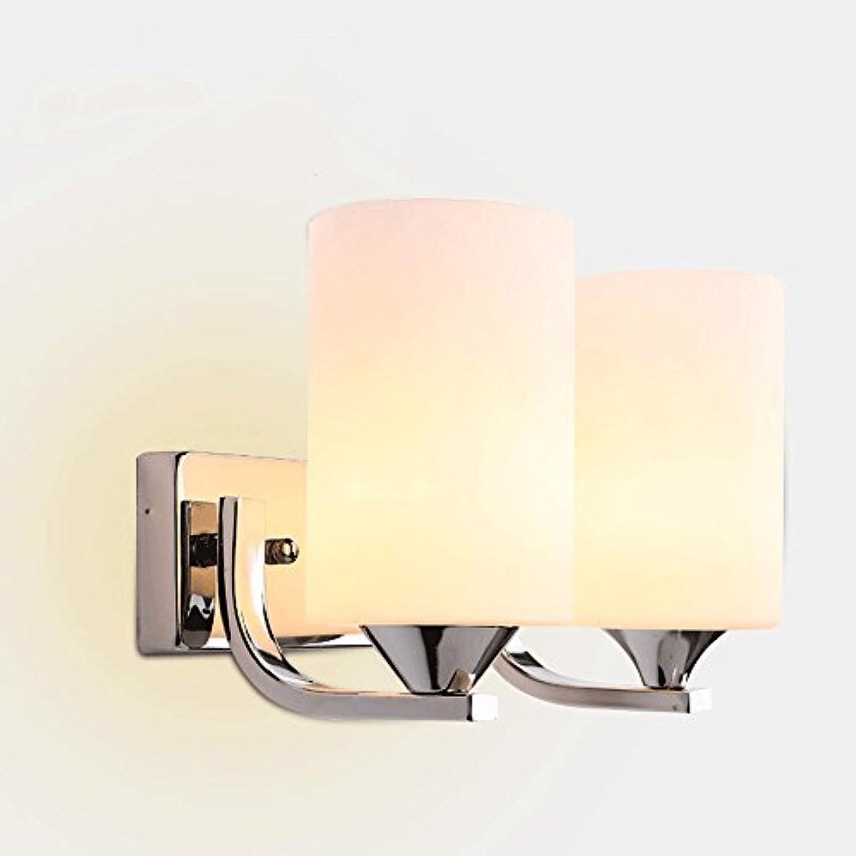 LED Glas wandleuchten, moderne einfache Metall Esstisch Hngelampe Wandleuchte Nordic Wohnzimmer Schlafzimmer Nacht Korridor Wandlampen (Design   2heads)