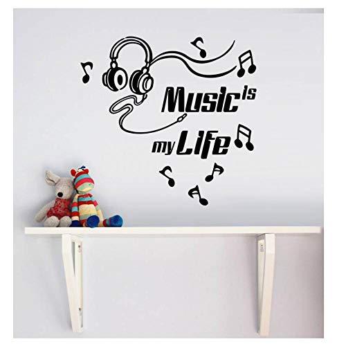 MINGKK - Adhesivo decorativo para pared, diseño de la música es mi vida
