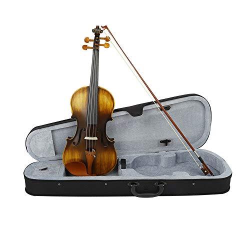 LiangDa Violine Electro Acoustic Violine mit Fall Matte Jujube Holz Violine for Anfänger Praxis Leistung Leicht Zu Tragen (Color : Brown, Size : 4/4)