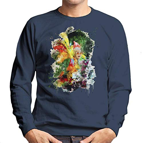 TV Times Elton John Wearing Feathers at The Piano 1978 heren sweatshirt