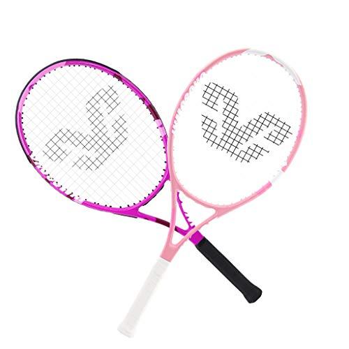 Tennis Rackets Raqueta de Tenis Profesional Raqueta de Tenis Rosa Femenina, Apta para Juegos y Deportes al Aire Libre