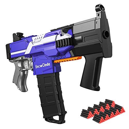 SnowCinda Electric Toy Guns for Nerf Guns Darts, Toy Foam Blasters Guns with 100 Pcs Refill Darts, 3 Modes Burst Toy Guns for Boys, Toys for 5-10 Year Old Boys - MP5K