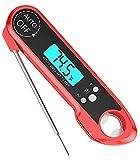 YYBBJH Termómetro de Carne, termómetro asado Digital, termómetro de Carne Digital Impermeable con Chef instantáneo. Termómetro de Carne Ultra rápida (Rojo), Accesorios de Cocina