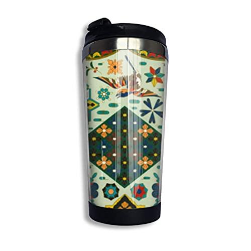 Cafeïnevrije Quilt Geschenken Reizen 304 Stainl Staal Vacuüm Geïsoleerde Koffie Cup 13 oz