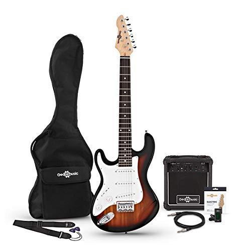 Set de Guitarra Electrica LA 3/4 Zurda + Amplificador Sunburst