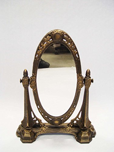 Decoratie Schmink Spiegel Tischspiegel Gußeisen Antik Vintage H:ca.43cm