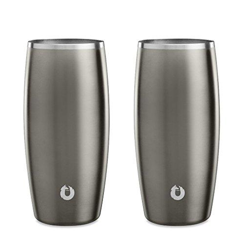 Snowfox Stainless Steel Beer Glass