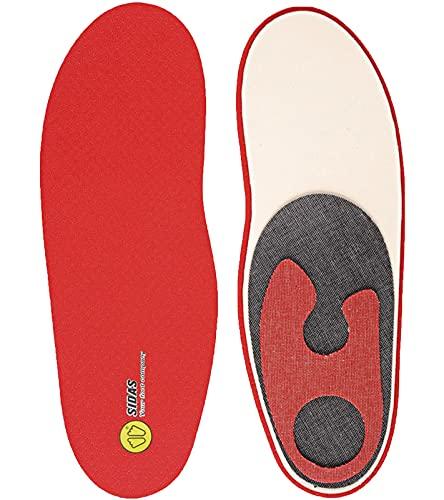 Sidas Winter Custom Pro semelles de chaussures semelles réglables pour les amateurs de sports d'hiver Rouge, Taille:XS