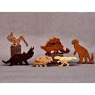 Dinosaur Animal Play Set Wooden Block Toys for Children Kids   Etsy