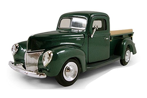 New 1:24 W/B AMERICAN CLASSICS COLLECTION - GREEN 1940 FORD PICKUP Truck Diecast Model Car By MOTOR MAX