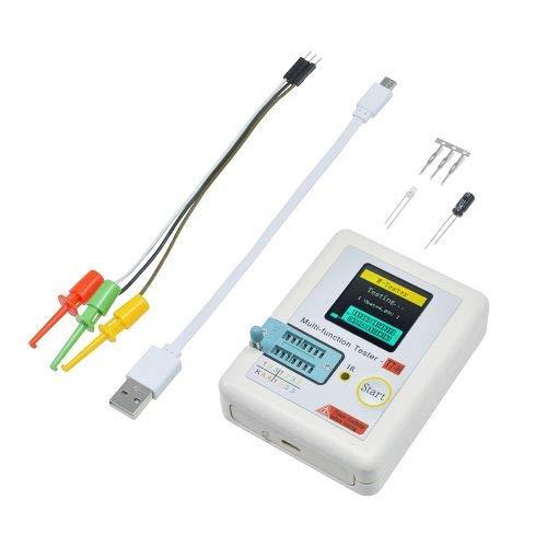 diymore Transistor-Tester TC-T7-H TFT ESR Tester Widerstandskondensatormessung mit Ein-Tasten-Bedienung, Grafikdisplay für Dioden-Trioden-Kondensator-Widerstand