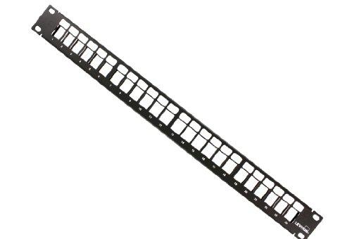 Leviton 49255-H24 QuickPort Patch Panel, 24-Port, 1RU, Cable...