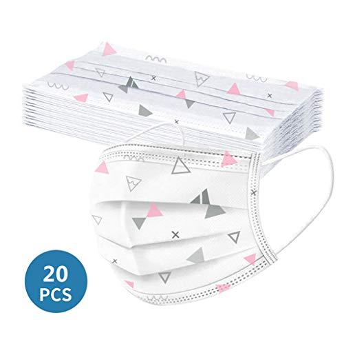 MaNMaNing Protección 3 Capas Transpirables con Elástico para Los Oídos Pack 20 unidades 20200708-MANING-A/N20 (Adulto)