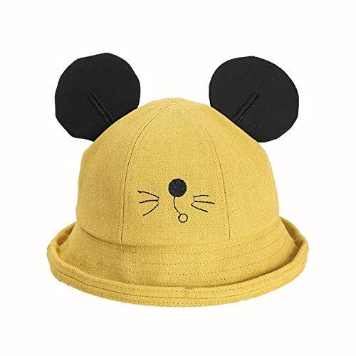 Sombrero para niños ratón de Dibujos Animados de Primavera versión Coreana de algodón Puro Sombrero de Olla para bebé Masculino y Femenino Nuevo Sombrero de Pescador para niños Marea