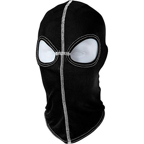 Thermoboy Gesichtsschoner, Sturmhaube Seidensturmhaube mit Augenlöchern 1.0, hautfreundlich, reine Seide, hochwertig, Schwarz, Einheitsgröße