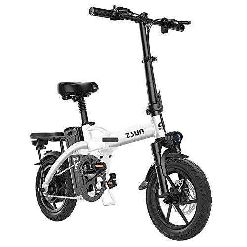 Liujie Ebike lichtgewicht vouwaluminium met pedalen, Power Assist en 48 V lithium-ion accu, 18 inch elektrische fiets met wielen en 400 W motor