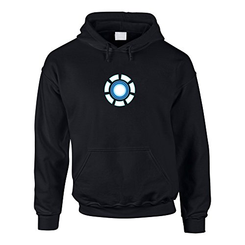 shirtdepartment Hoodie Stark Arc Reactor Kapuzenpullover Reaktor, S, schwarz