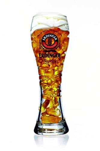 Weizenbierglas 0,5l mit Bierfruchtgummi Fruchtgummi mit Biergeschmack