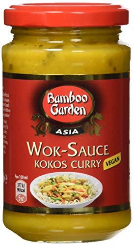 Bamboo Garden Wok Sauce Kokos Curry, 4er Pack (4 x 215 ml)