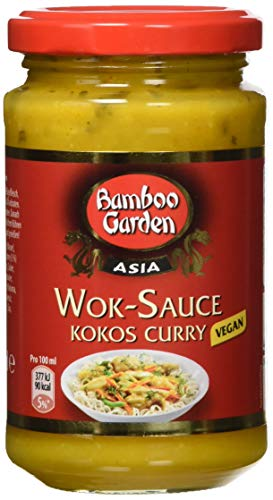 Bamboo Garden Wok Sauce Kokos Curry, 4er Pack (4 x 215 ml)