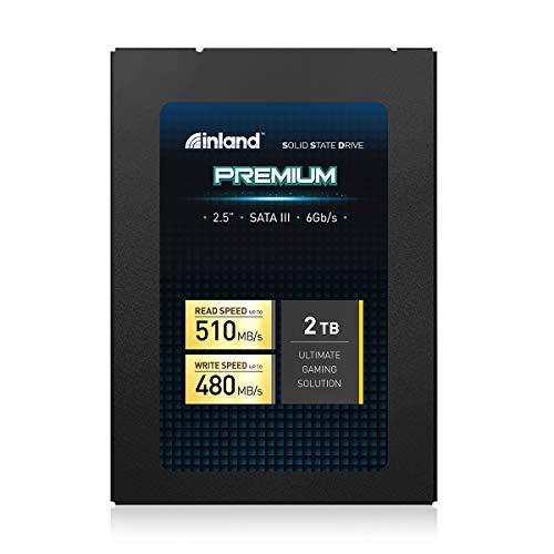 Inland Premium 2TB SSD SATA III 6GB/s 2.5 Inch 7mm 3D NAND Internal Solid State Drive (2TB)