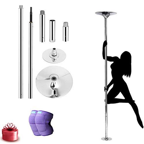 Uitneembare dansstangkit 45 mm draagbare stripper draaiende danspaal voor training, club, feest, pub en homegym Fitness