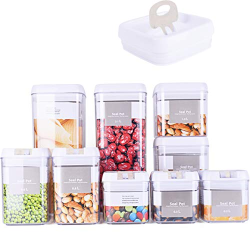 DRAGONN 9 Piece Airtight Food Storage Container Set...